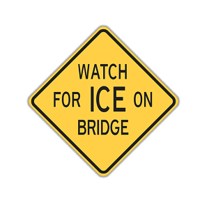 Watch for Ice on Bridge