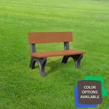 4ft Landmark Recycled Park Bench