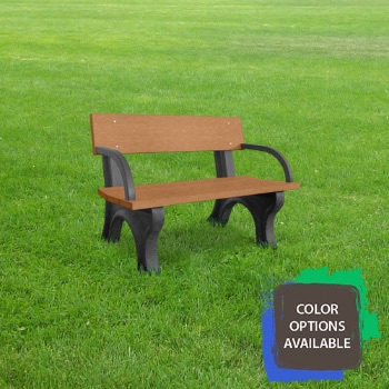 4ft Landmark Recycled Park Bench with arms