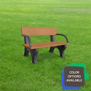 4ft Landmark Memorial Bench with arms
