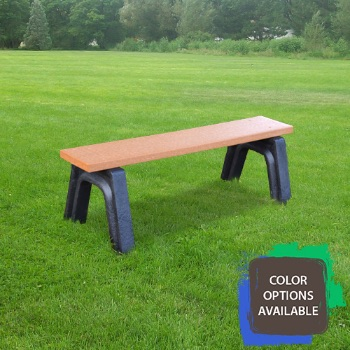 4ft Landmark Flat Recycled Park Bench