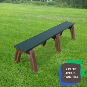 6ft Landmark Flat Recycled Park Bench