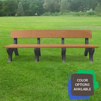 8ft Landmark Recycled Park Bench