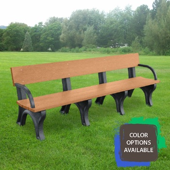 8ft Landmark Recycled Park Bench with arms