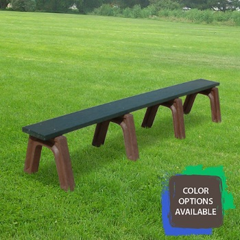 8ft Landmark Flat Recycled Park Bench