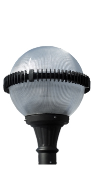 Lumecon LED Ball of Fire Post Top decorative light