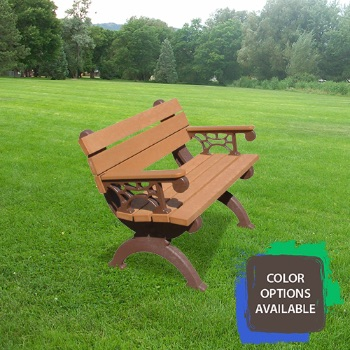 4ft Monarque Recycled Park Bench with arms