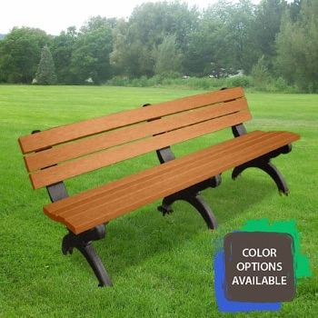 6ft Monarque Recycled Park Bench