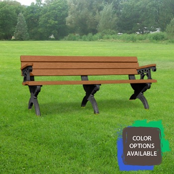 6ft Monarque Recycled Park Bench with arms