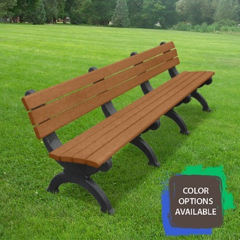 8ft Monarque Recycled Park Bench