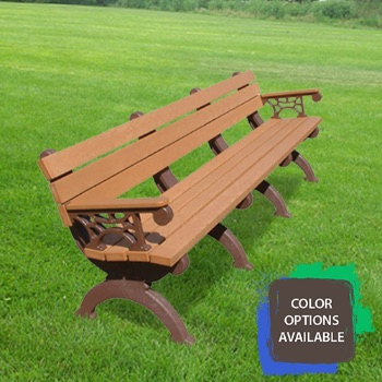 8ft Monarque Recycled Park Bench with arms