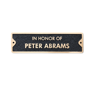 Bronze Memorial Plaque for Bench - 10 x 2.75 inches - 2 line