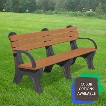 Recycled park bench