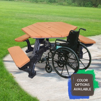 Plaza Universal Access Recycled Picnic Table