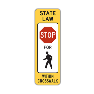 "12"" x 36"" In-Street Stop Pedestrian Crossing"