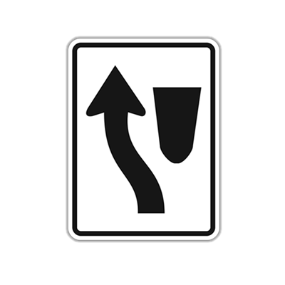Keep Left/Right Traffic Sign