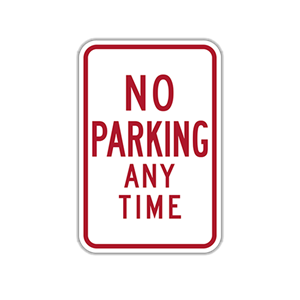 "12"" x 18"" No Parking Traffic Sign"