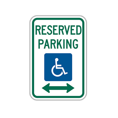 "12"" x 18"" Reserved Parking Traffic Sign"