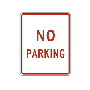 No Parking Text
