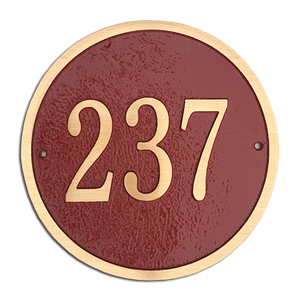 "Address Plaque 10"" Diameter Round- Cast Bronze"