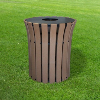 Round Flare Recycled Receptacle