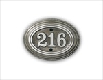 "Room Number Sign 5"" x 3.75"" Oval -Cast Aluminum"