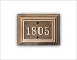 "Room Number Sign 5"" x 3.75"" Rectangle - Cast Bronze"