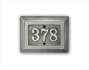 "Room number Sign 5"" x 3.75"" Rectangle - Cast Aluminum"