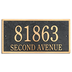 "Address Plaque 14"" x 7"" Rectangle- Cast Bronze"