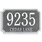 "Address Plaque 14"" x 9"" Scallop- Cast Aluminum"