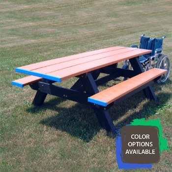 Standard Double ADA Compliant Recycled Picnic Table