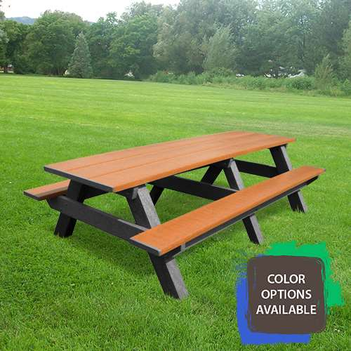 Standard 8ft Recycled Picnic Table Larger Photo