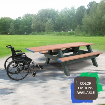 Standard ADA Compliant Recycled Picnic Table