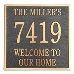 "Address Plaque 12"" x 12"" Square- Cast Bronze"