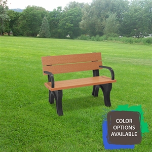 4ft Traditional Memorial Bench with arms