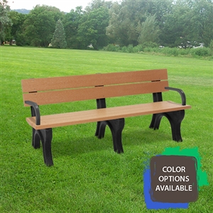 6ft Traditional Memorial Bench with arms