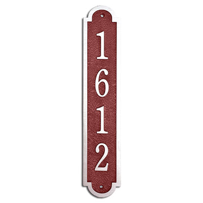 "Address Plaque 3"" x 16"" Vertical- Cast Aluminum"