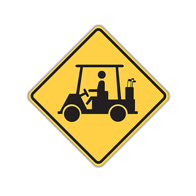 "24"" Golf Cart Crossing Traffic Sign"