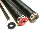garage door torsion spring .207 x 2 1/4'' pair, left wound and right wound springs