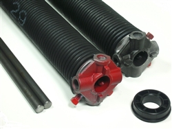 "garage door torsion spring .243 X 1 3/4"" pair, left wound and right wound"