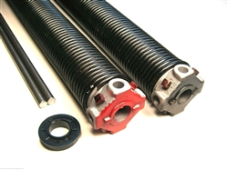 "garage door torsion spring .273 X 2 1/4"" pair, left wound and right wound spring"