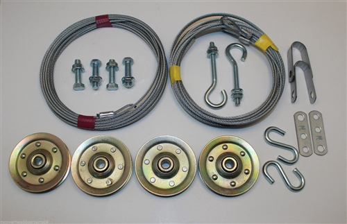 Complete Garage Door Pulleycable Set For Extension Springs