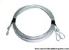 Garage door cables for 8' high door with torsion spring system