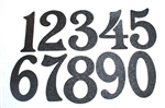 Black Embossed Magnetic House Numbers