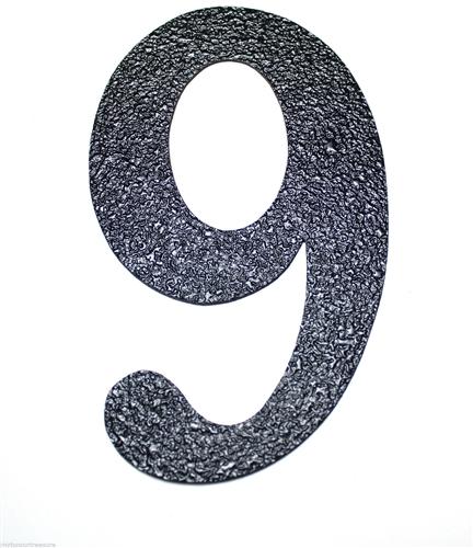 Black Embossed Magnetic House Numbers 2 Great for Garage Doors