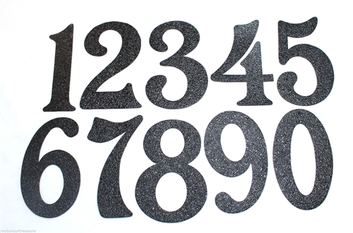 Black Embossed Magnetic House Numbers Great For Garage Doors
