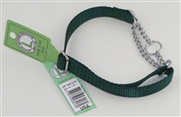 "5/8"" Adj. (to 15"") Nylon/Chain Choke Collar"