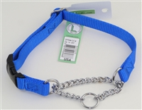 "3/4"" Adj. (to 15"") Nylon/Chain Martingale Collar w/ Buckle"