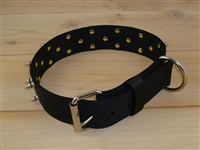 "1 3/4"" x 26"" Double Ply SPIKE Collar - Black"