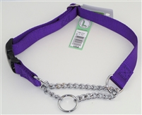 "1"" Adj. Nylon/Chain Martingale Collar w/ Buckle"
